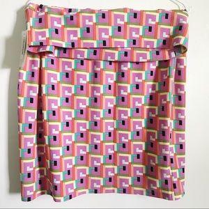 Geometric Bubblegum colored Cassie Skirt